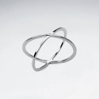 Sterling Silver Criss-Cross X Ring