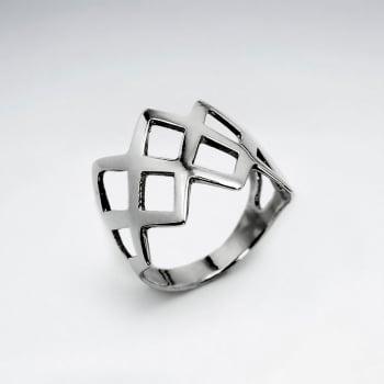Sterling Silver Crisscross Design Ring