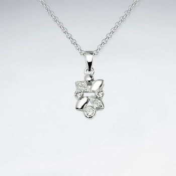 Sterling Silver Cubic Zirconia Butterfly Inspired Pendant