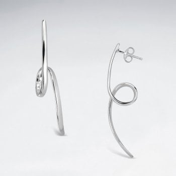 Sterling Silver Curly-que Stud Earrings