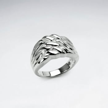 Sterling Silver Curves and Swirls Ring