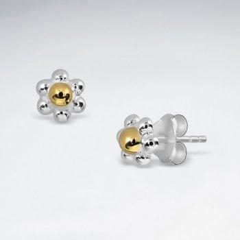 Sterling Silver Daisy Flower Earrings