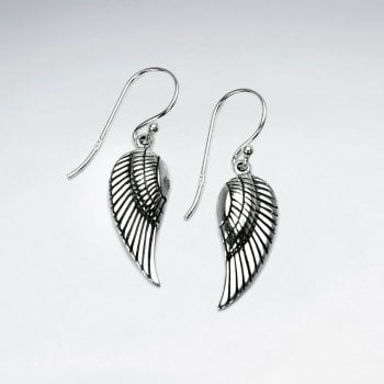 Sterling Silver Deity Wing Dangle Earrings