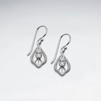 Sterling Silver Designer Dangle Earrings