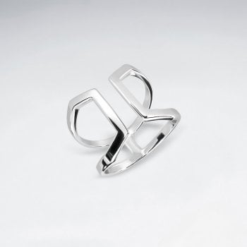 Sterling Silver Double Band Open Ring