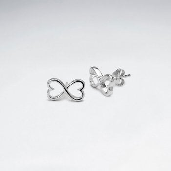 Sterling Silver Double Infinity Hearts Earrings