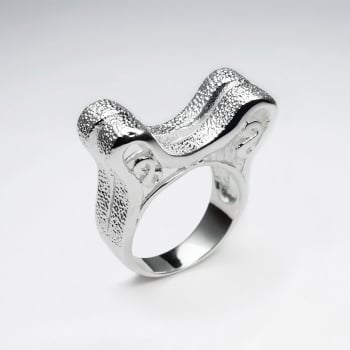 Sterling Silver Double Peak Ring