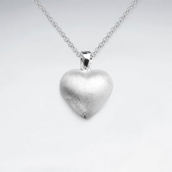 Sterling Silver Double-Sided Heart
