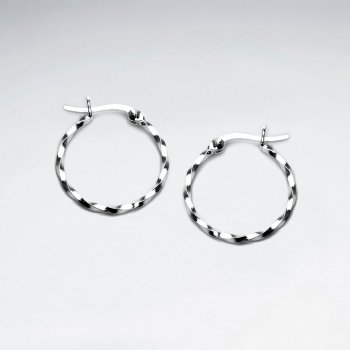 Sterling Silver Duel Twist Earrings
