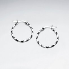 Sterling Silver Duel Twist Earrings