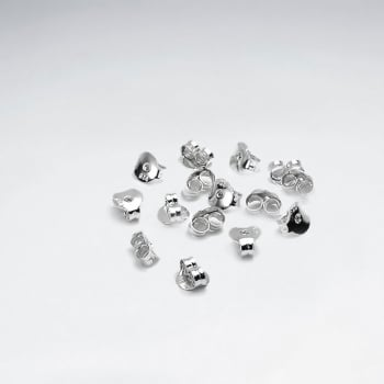 Sterling Silver Earring Backs Pack Of 50 Pairs