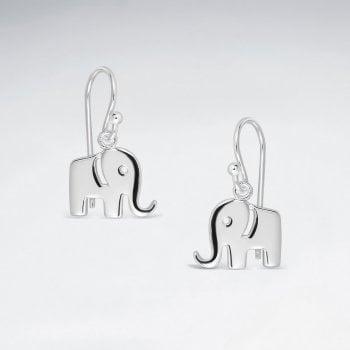 Sterling Silver Elephant Hook Earrings