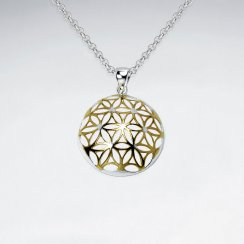 Sterling Silver Embellished Domed Pendant