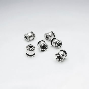 Sterling Silver Endcap Spacer Beads Pack Of 25 Pieces
