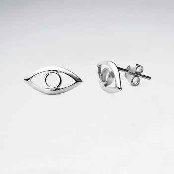 Sterling Silver Eye Stud Earrings