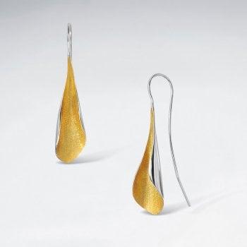 Sterling Silver Feminine Grace Hook Earrings