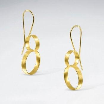 Sterling Silver Figure 8 Looped Ring Earrings