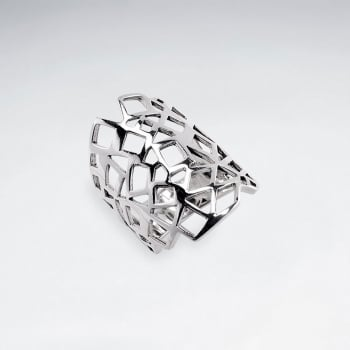 Sterling Silver Filigree Armor Statement Ring