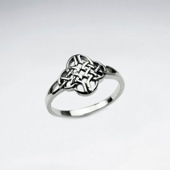 Sterling Silver Filigree Celtic Weave Ring