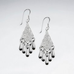Sterling Silver Filigree Chandelier Dangle Earrings