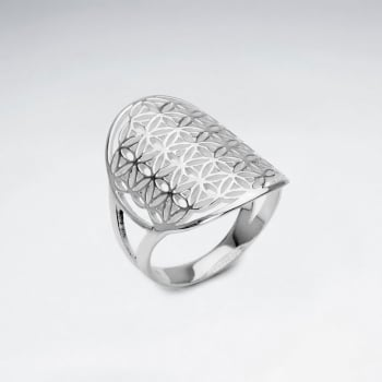 Sterling Silver Filigree Circle Ring