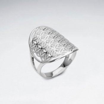 Sterling Silver Filigree Circle Ring