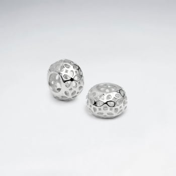 Sterling Silver Filigree Floral Beads