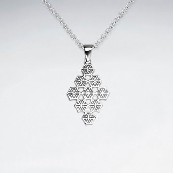 Sterling Silver Filigree Marquise Silhouette Pendant