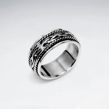Sterling Silver Filigree Oxidized Ring