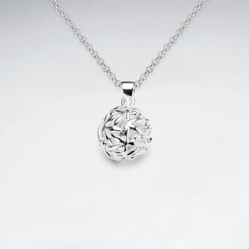 Sterling Silver Filigree Sphere Pendant