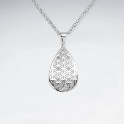 Sterling Silver Filigree Teardrop Pendant