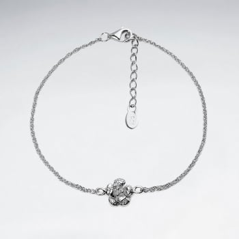 Sterling Silver Flirty Flower Bracelet