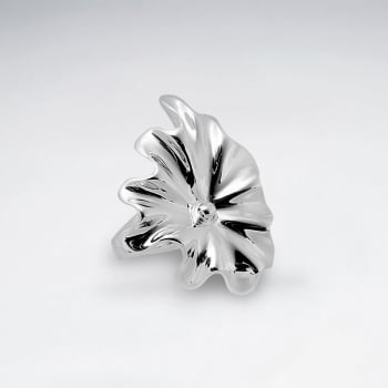 Sterling Silver Flower Blooms Design Ring