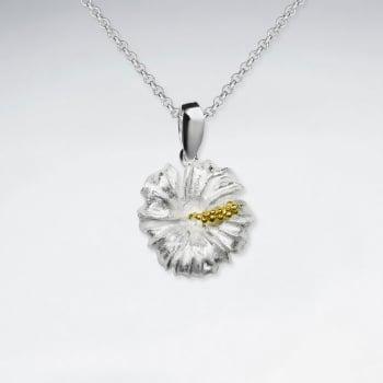 Sterling Silver Flower Blossom Design Pendant