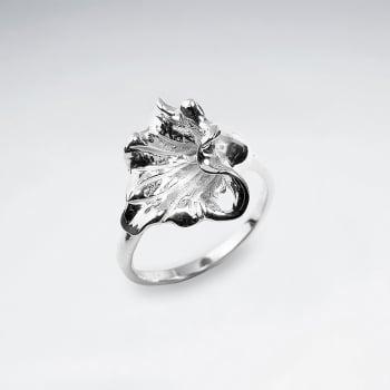 Sterling Silver Flower Petal Ring