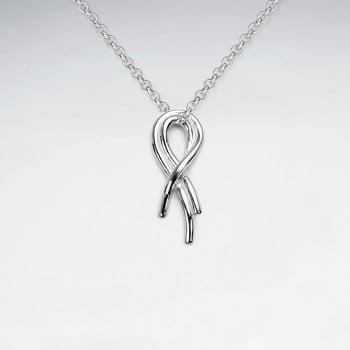 Sterling Silver Forever Ribbon Pendant