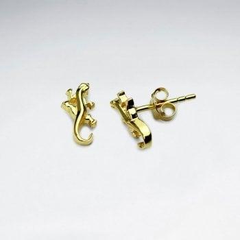 Sterling Silver Gecko Stud Earrings