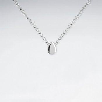 Sterling Silver Geometric Teardrop Pendant