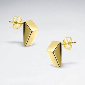 Sterling Silver Geometric Triangle Stud Earrings