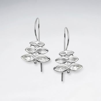 Sterling Silver Gradual Abstract Statement Earrings