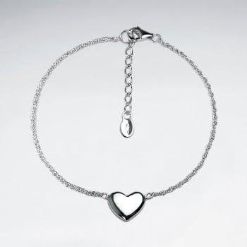 Sterling Silver Heart Silhouette Bracelet