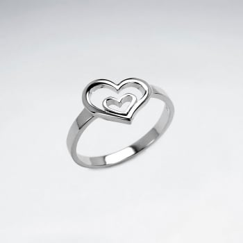 Sterling Silver Hearts In Love Ring