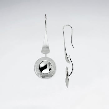 Sterling Silver High Fashion Designer Circlet Drop Earrings