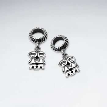 Sterling Silver His & Her Charm