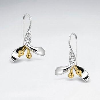 Sterling Silver Holiday Mistletoe Earrings