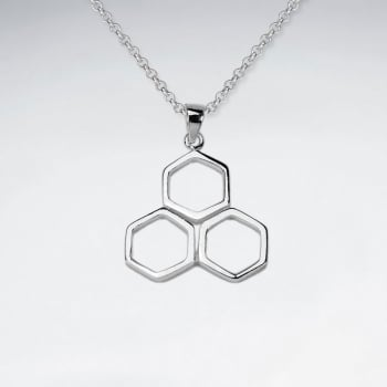 Sterling Silver Honeycomb Pendant