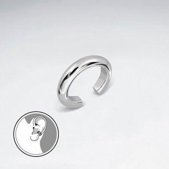 Sterling Silver Huggie Ear Cuff Earring