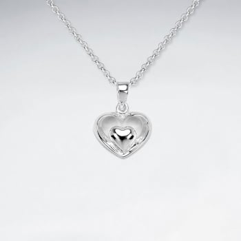 Sterling Silver Hugging Hearts Pendant