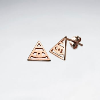 Sterling Silver Illuminati Stud  Earrings