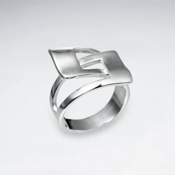 Sterling Silver Interlocked Openwork Ring